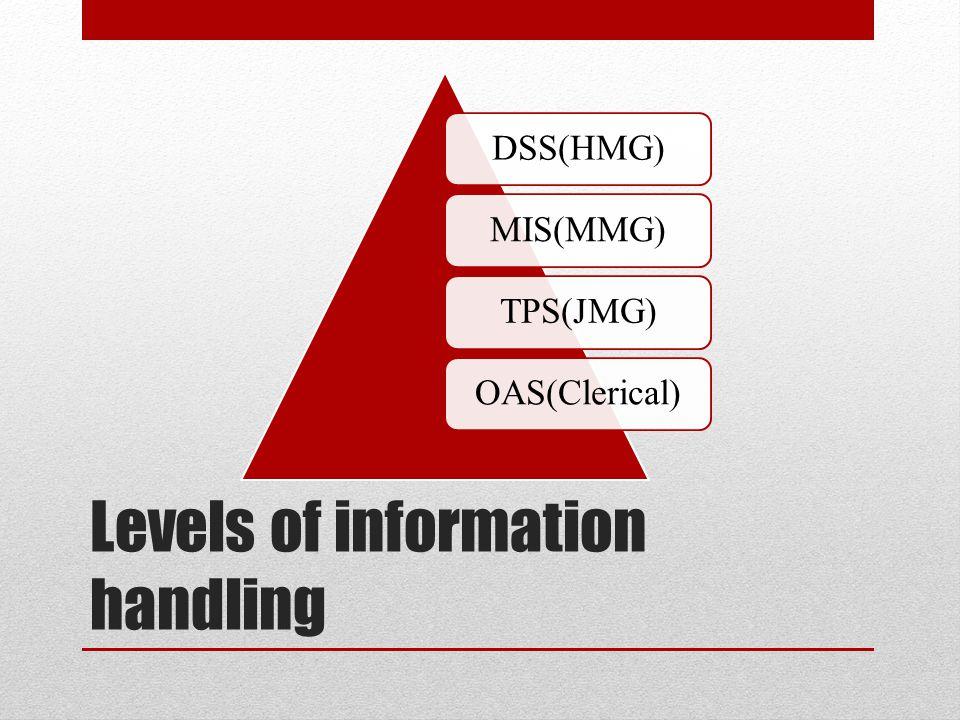 Levels of information handling