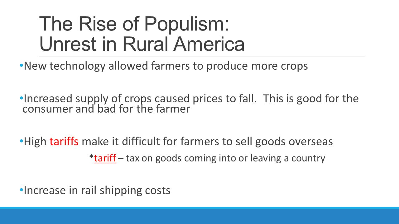 The Rise of Populism: Unrest in Rural America