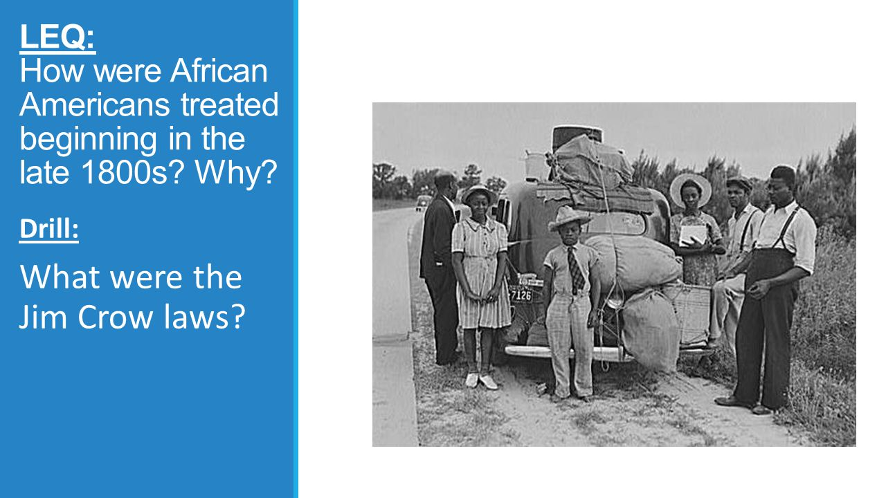 What were the Jim Crow laws