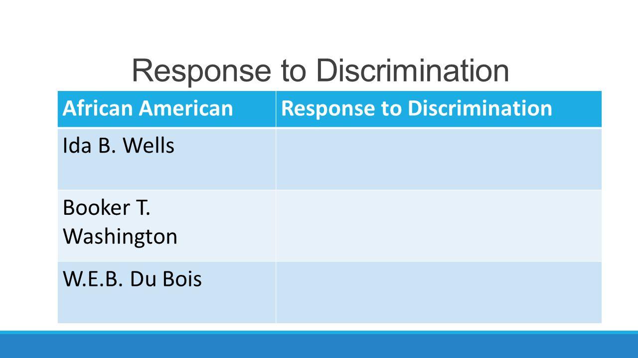 Response to Discrimination