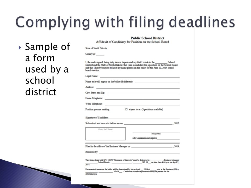 Complying with filing deadlines