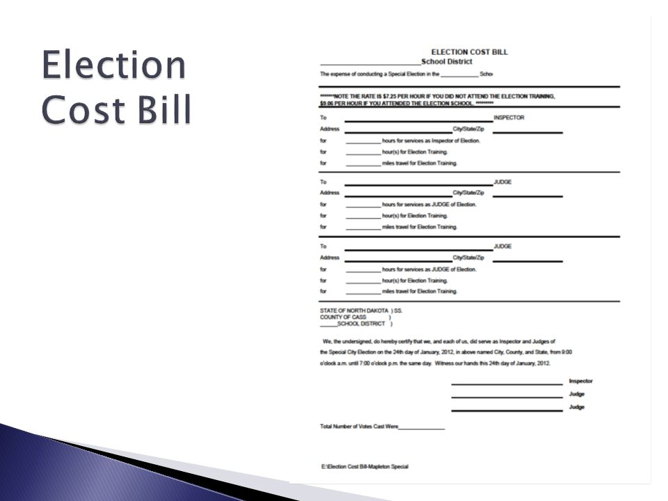 Election Cost Bill