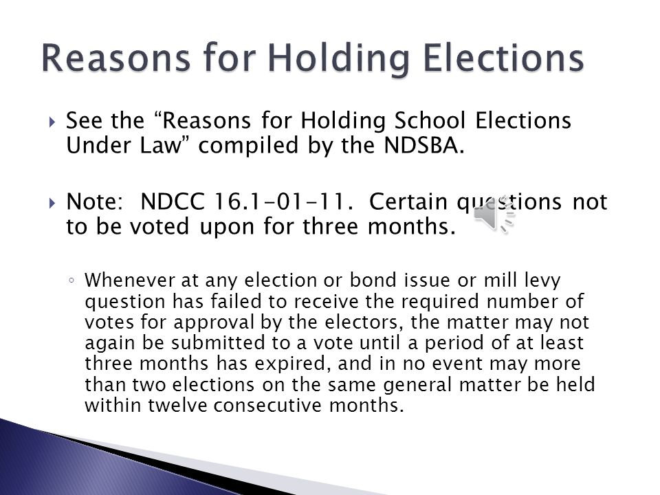Reasons for Holding Elections