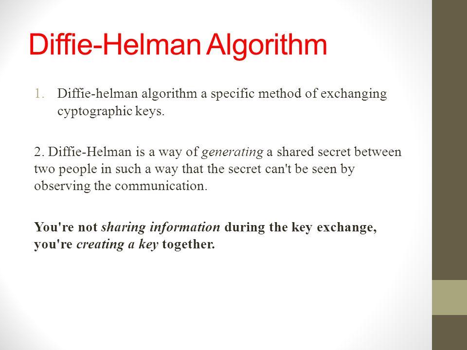 Diffie-Helman Algorithm