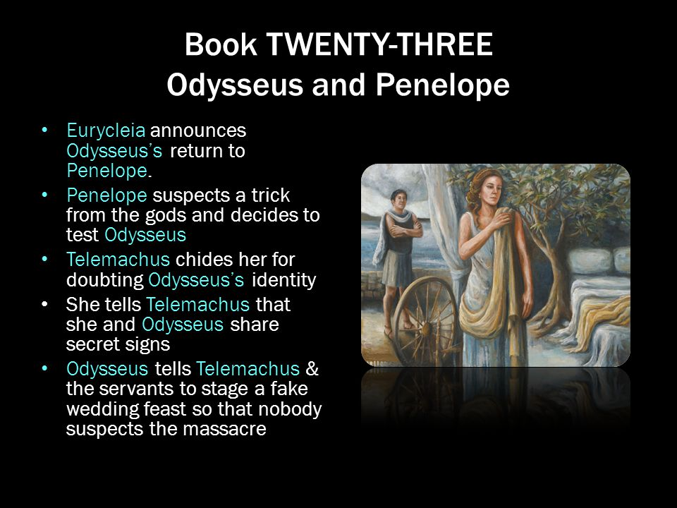 how do penelopes and odysseus definitions Some critics dismiss penelope as a paragon of marital fidelity — a serious and industrious character, a devoted wife and mother, but one who lacks the fascination and zest for life that some of homer's immortal women display.
