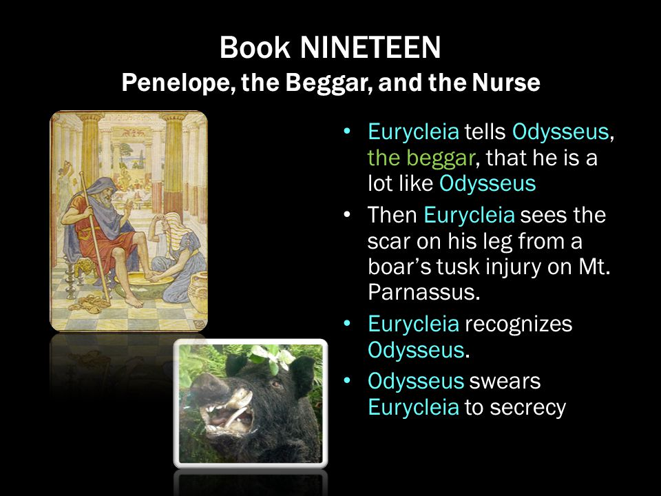 Book NINETEEN Penelope, the Beggar, and the Nurse