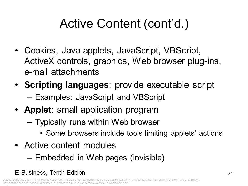 Active Content (cont'd.)