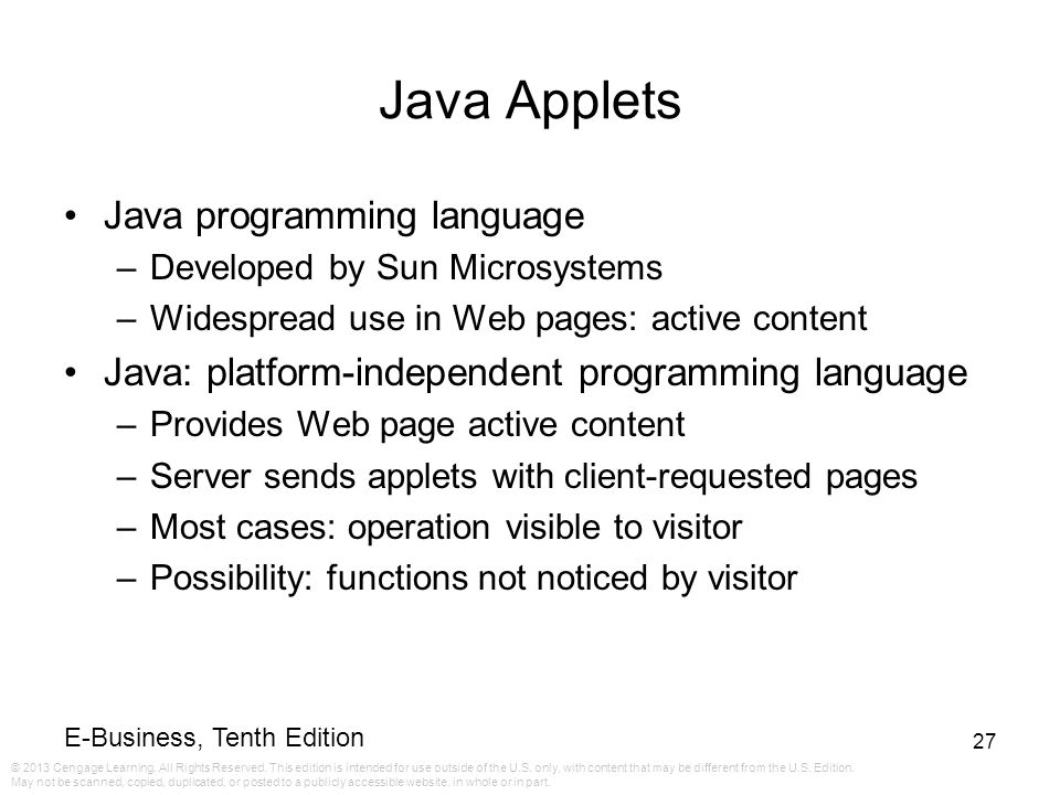 Java Applets Java programming language