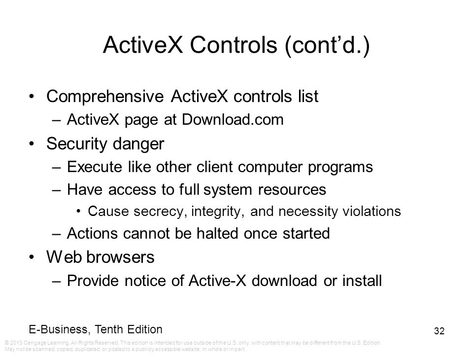 ActiveX Controls (cont'd.)