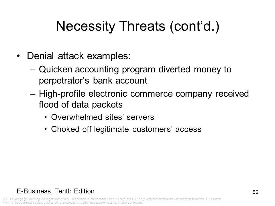 Necessity Threats (cont'd.)