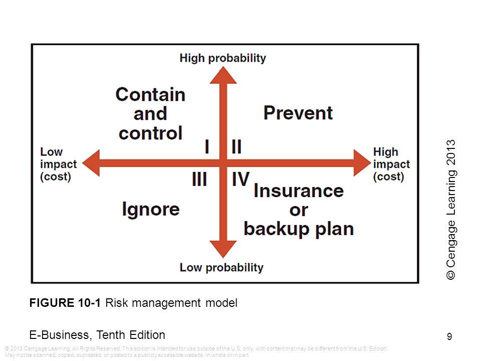 © Cengage Learning 2013 FIGURE 10-1 Risk management model