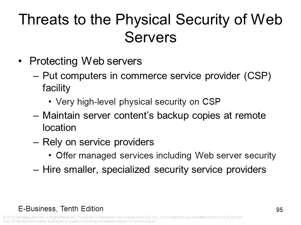 Threats to the Physical Security of Web Servers