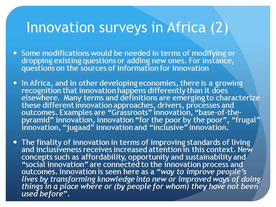 Innovation surveys in Africa (2)