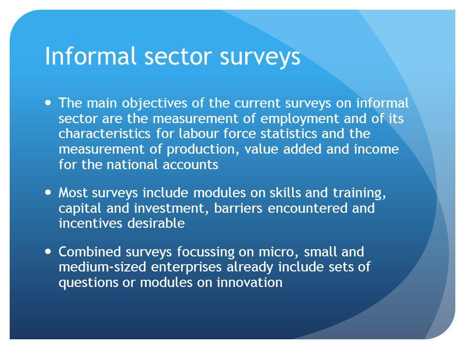 Informal sector surveys