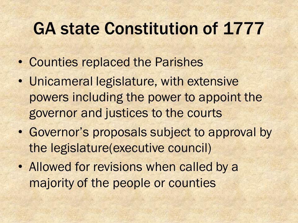 GA state Constitution of 1777