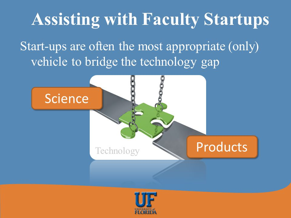 Assisting with Faculty Startups