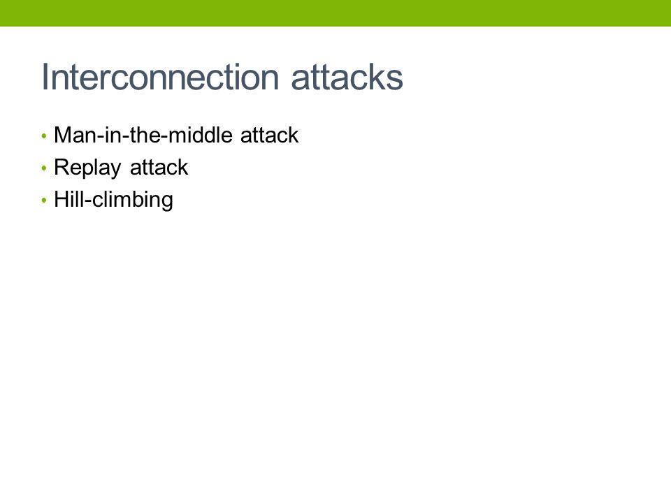 Interconnection attacks