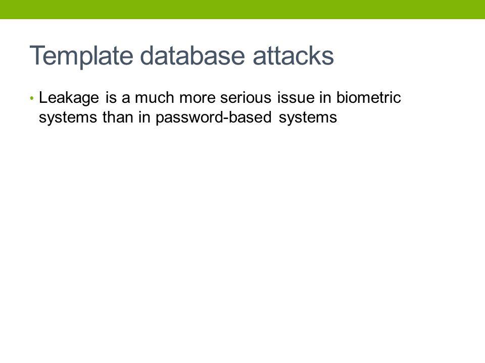 Template database attacks