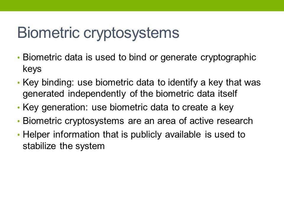 Biometric cryptosystems