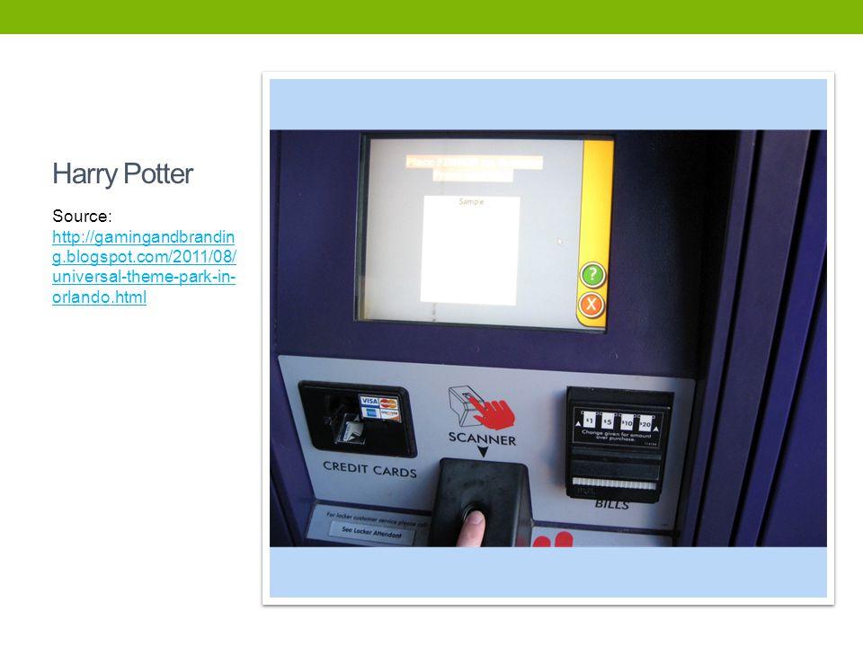 Harry Potter Source: http://gamingandbranding.blogspot.com/2011/08/universal-theme-park-in-orlando.html.