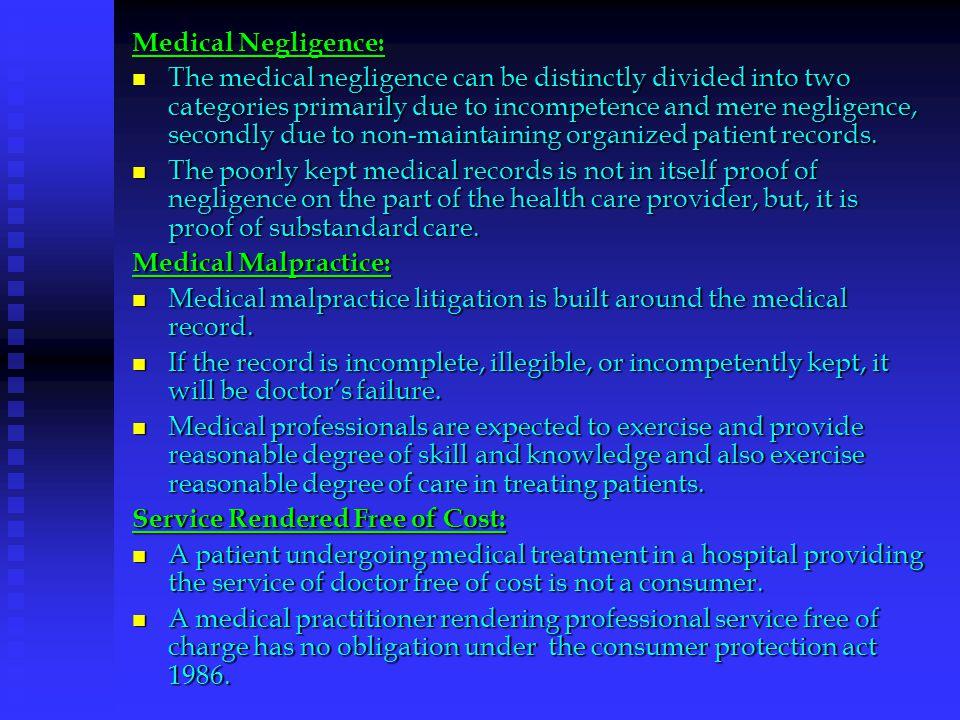 Medical Negligence: