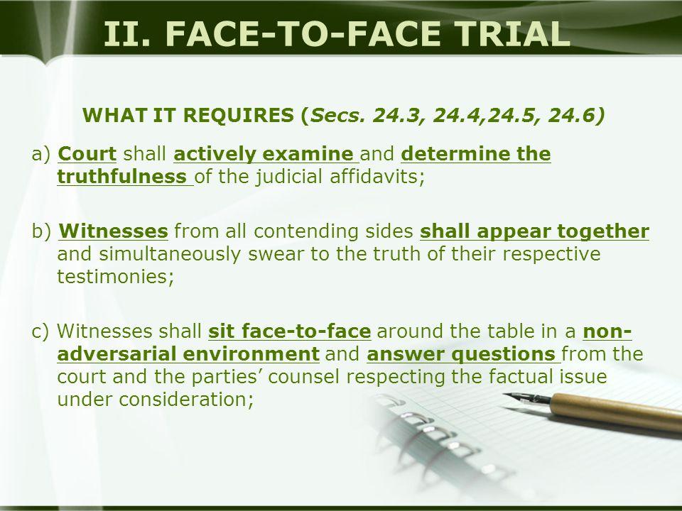 WHAT IT REQUIRES (Secs. 24.3, 24.4,24.5, 24.6)