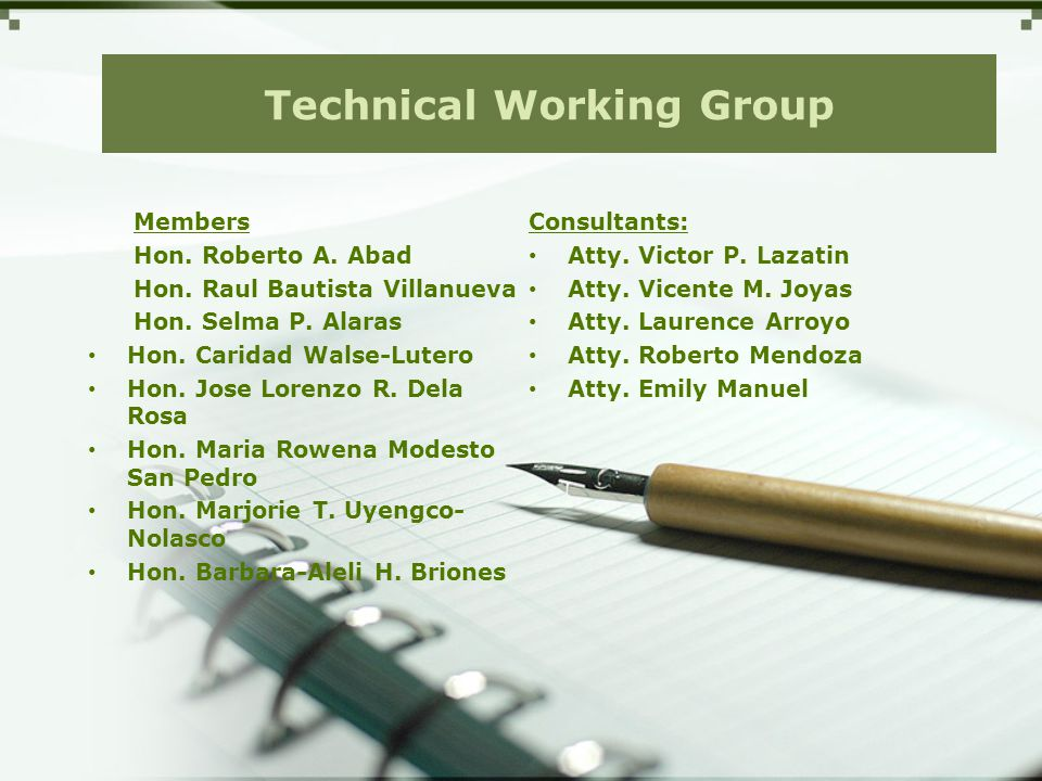 Technical Working Group