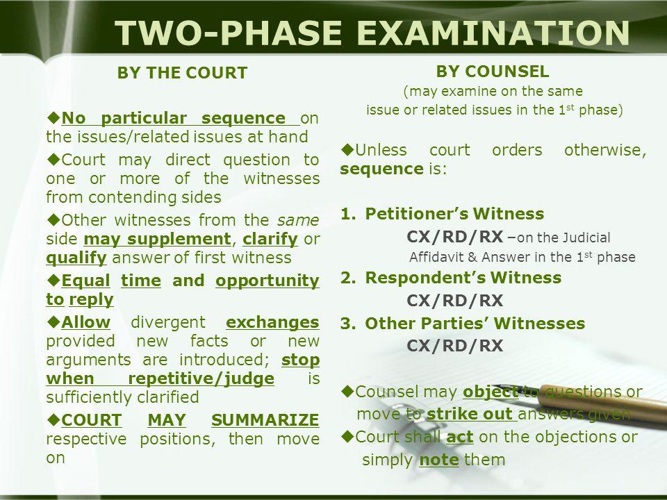 TWO-PHASE EXAMINATION