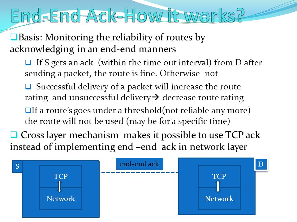 End-End Ack-How it works