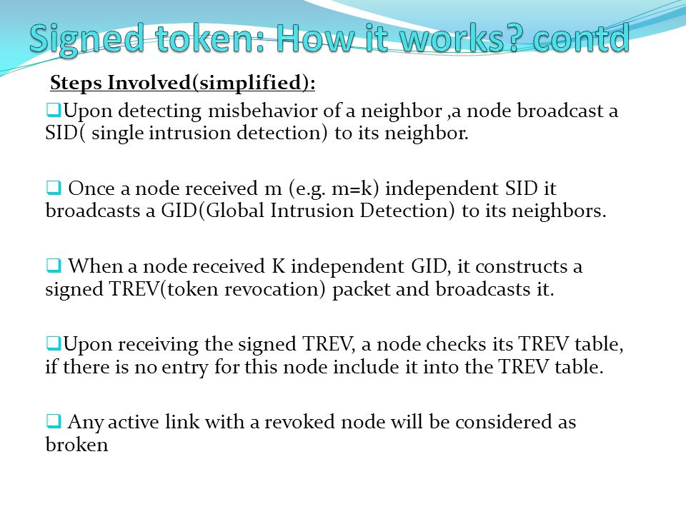 Signed token: How it works contd