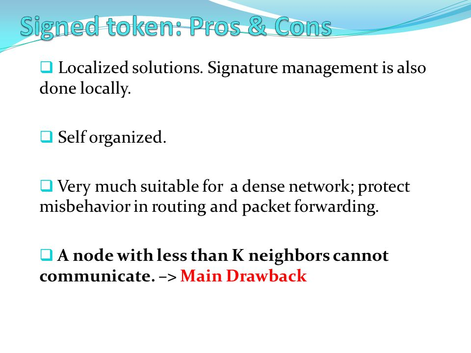 Signed token: Pros & Cons