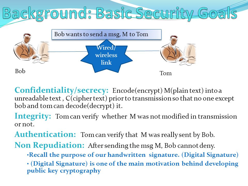 Background: Basic Security Goals