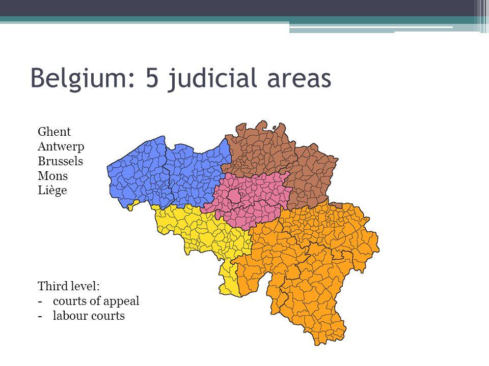 Belgium: 5 judicial areas