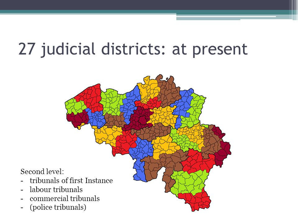 27 judicial districts: at present