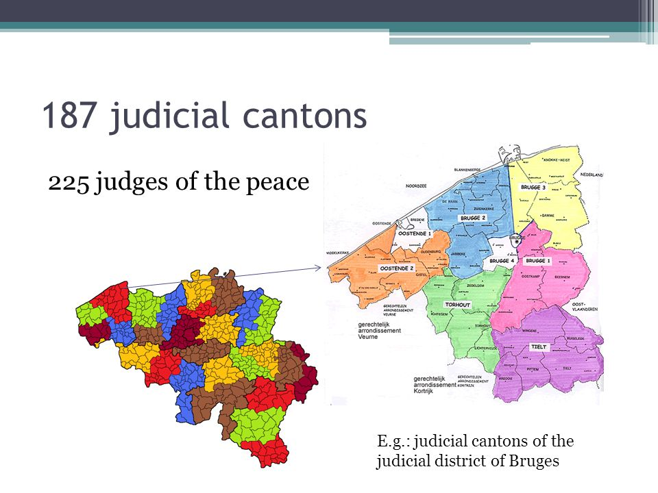 187 judicial cantons 225 judges of the peace