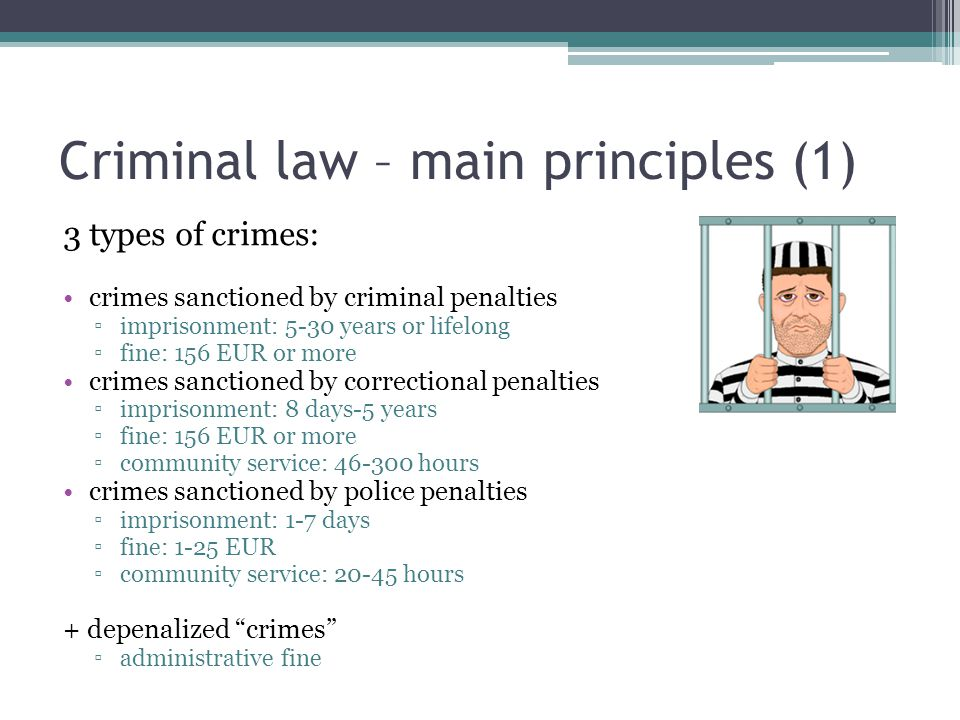 Criminal law – main principles (1)