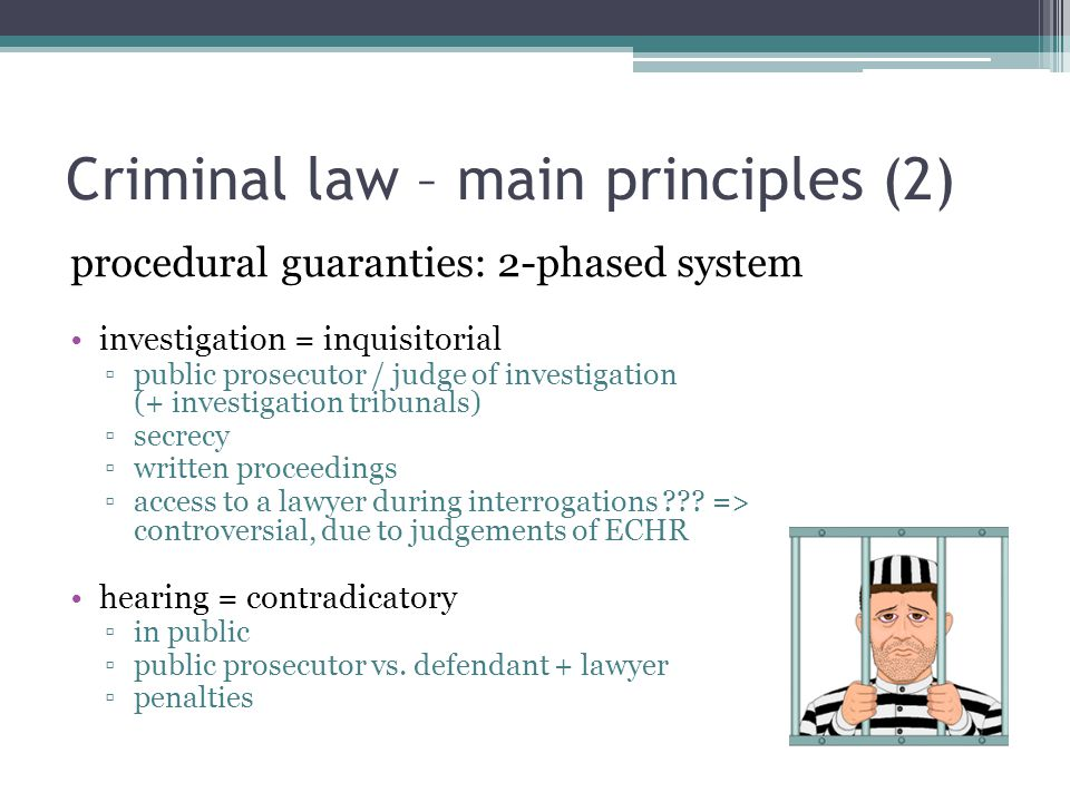 Criminal law – main principles (2)