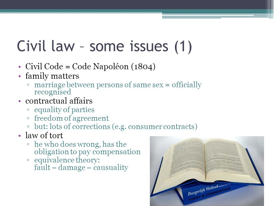 Civil law – some issues (1)