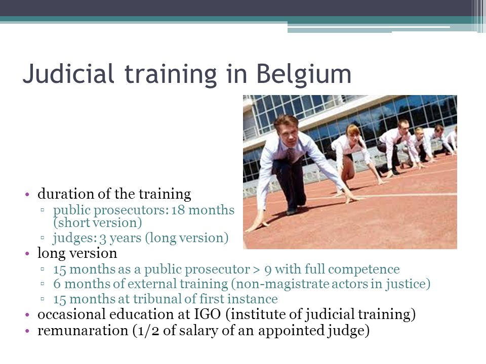 Judicial training in Belgium
