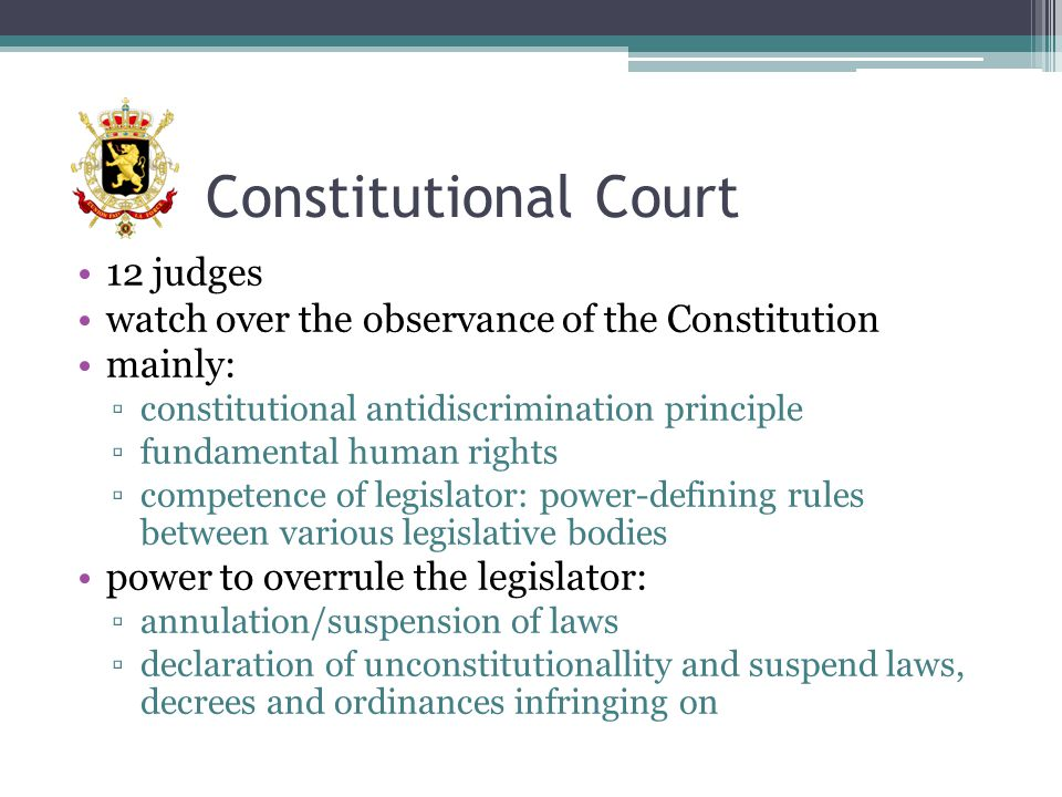 Constitutional Court 12 judges