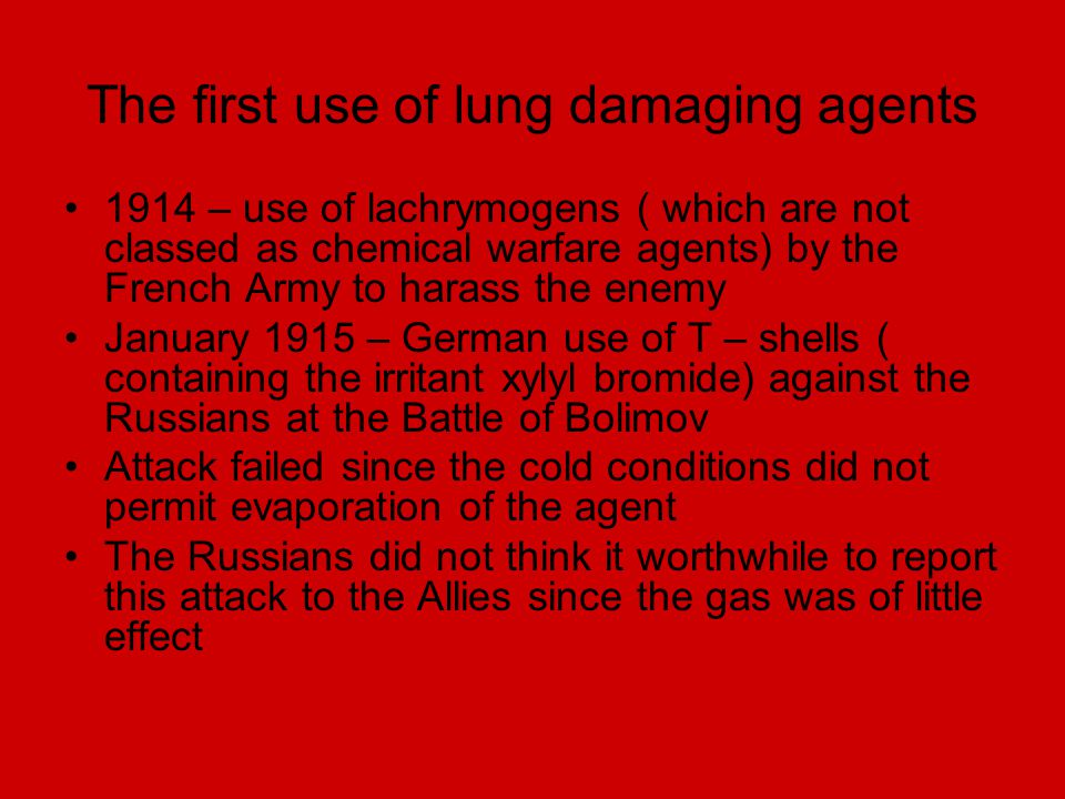 The first use of lung damaging agents