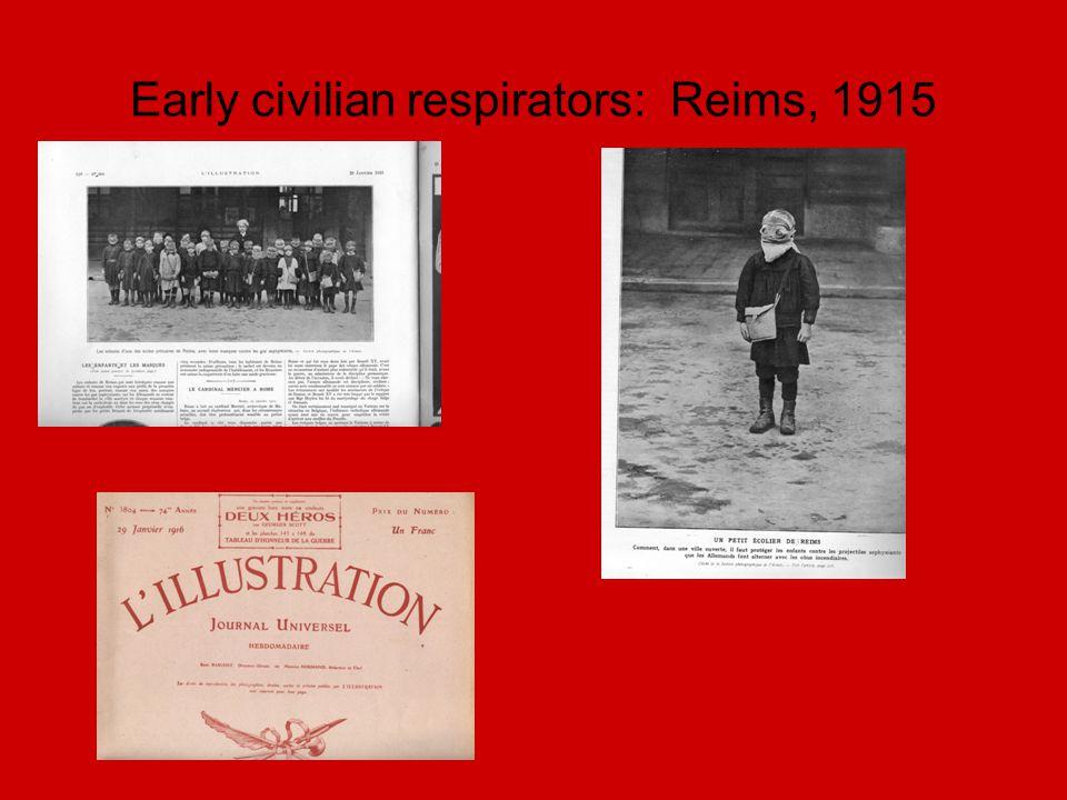 Early civilian respirators: Reims, 1915
