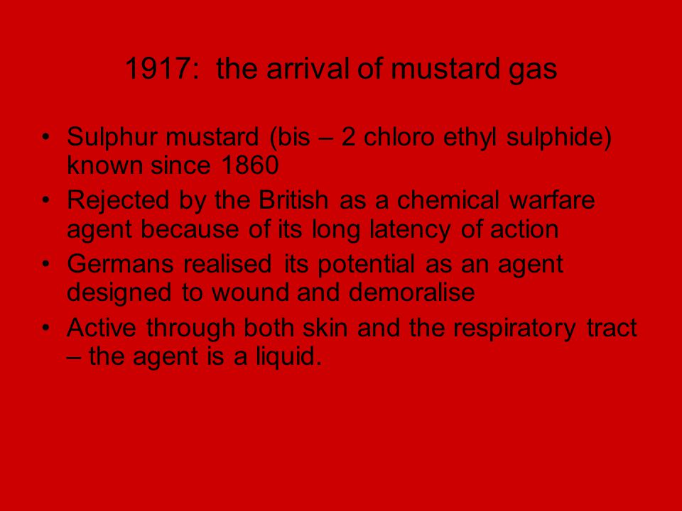 1917: the arrival of mustard gas