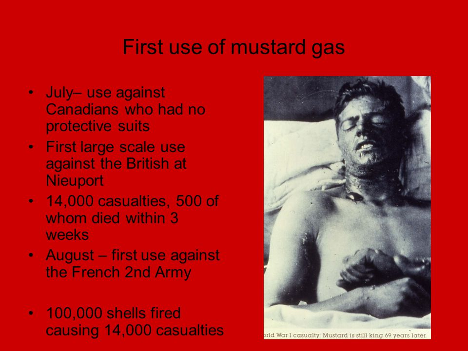 First use of mustard gas