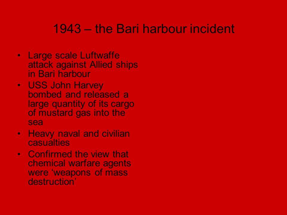 1943 – the Bari harbour incident