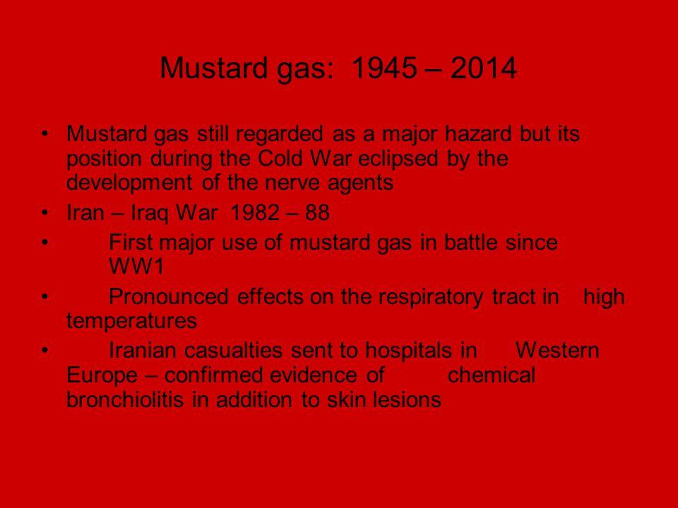 Mustard gas: 1945 – 2014