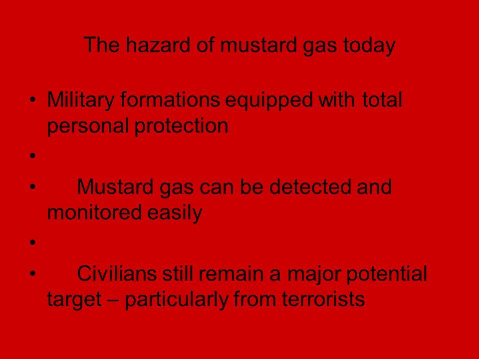 The hazard of mustard gas today