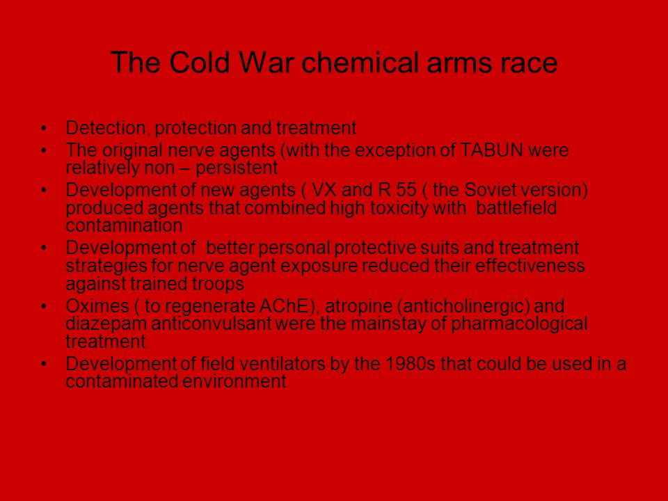 The Cold War chemical arms race