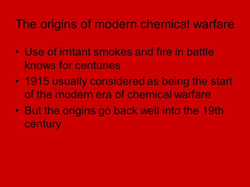 The origins of modern chemical warfare