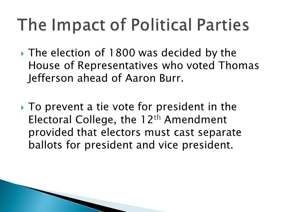 The Impact of Political Parties